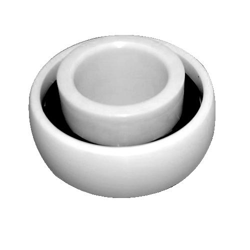 Teniendo cerámica autoalineables